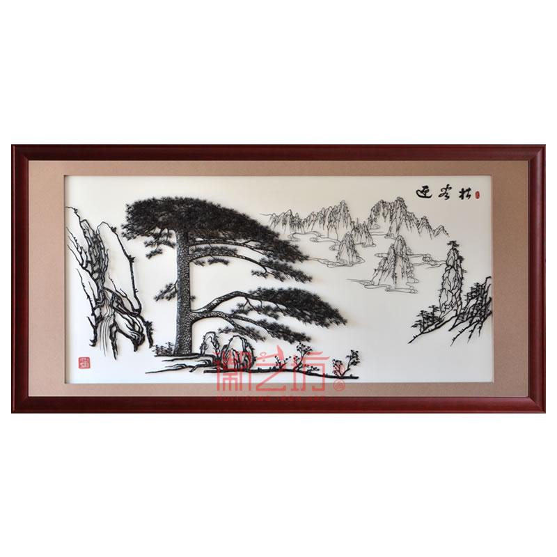 大幅迎客松芜湖铁画名师精品收藏 大厅办公室接待厅背景墙装饰壁画