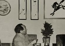 毛泽东在安徽博物馆对芜湖铁画十分赞赏