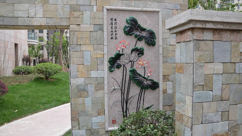 芜湖汇成名郡定制的小区园林景观装饰铁画