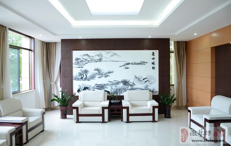 安徽扬子鳄国家级自然保护区管理局定制芜湖铁画作为会议接待大厅壁画