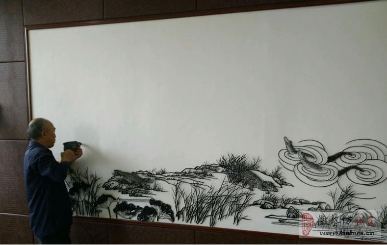 中国鳄鱼湖芜湖铁画4