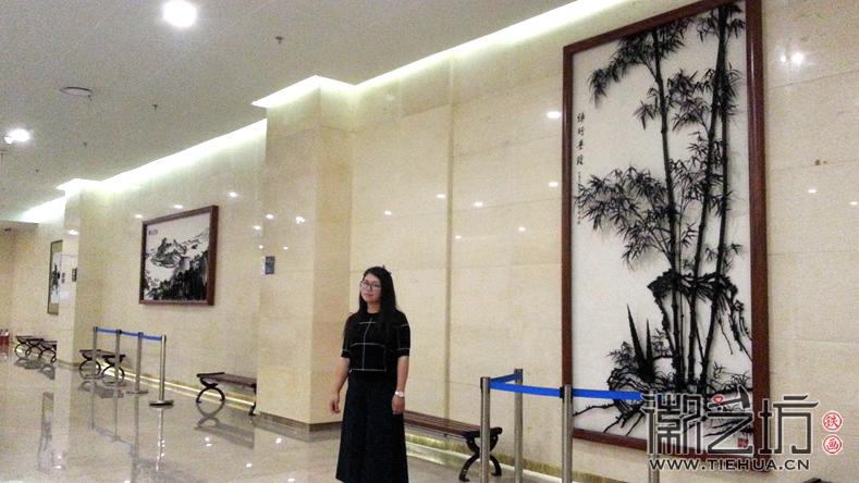 芜湖博物馆铁画展示墙 陈兰