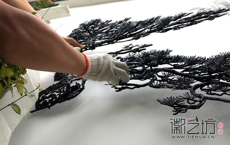 徽艺坊定制合肥明光路地铁站出口景观墙铁画 (13)