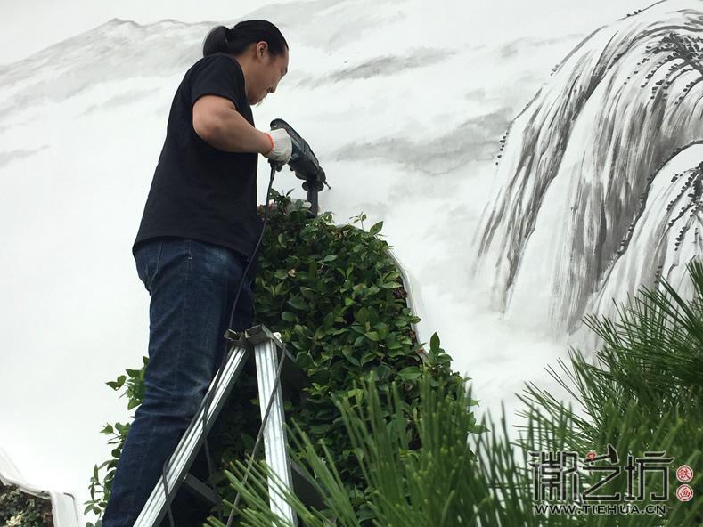 徽艺坊定制合肥明光路地铁站出口景观墙铁画 (10)