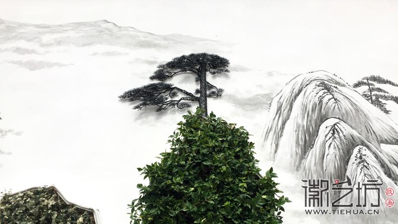 徽艺坊定制合肥明光路地铁站出口景观墙铁画 (12)