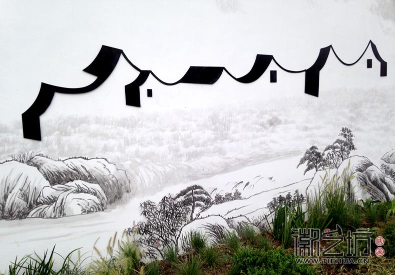 徽艺坊定制合肥明光路地铁站出口景观墙铁画 (4)