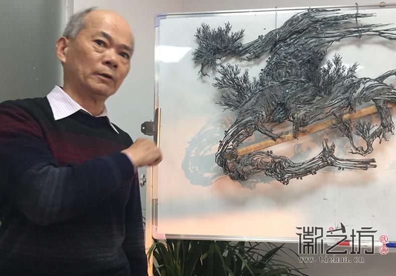安徽省工艺美术大师张家康 一幅好的铁画究竟是怎样的 (3)