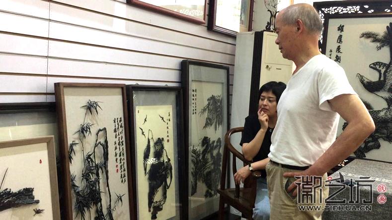 安徽省工艺美术大师张家康 一幅好的铁画究竟是怎样的