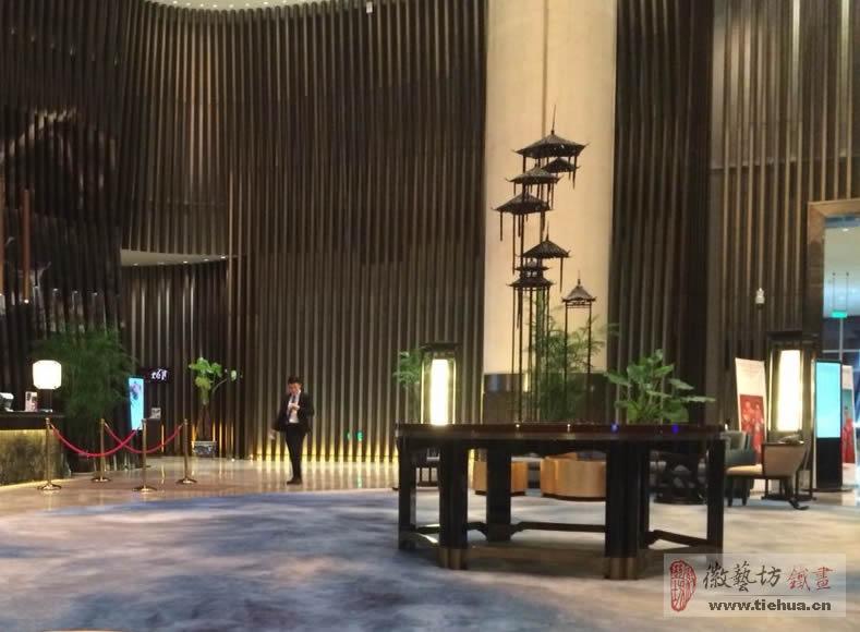 芜湖万达嘉华酒店空间装饰铁画整体解决方案