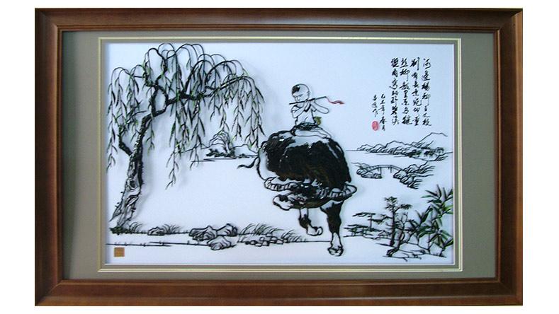 童趣-李爱平设计的铁画作品