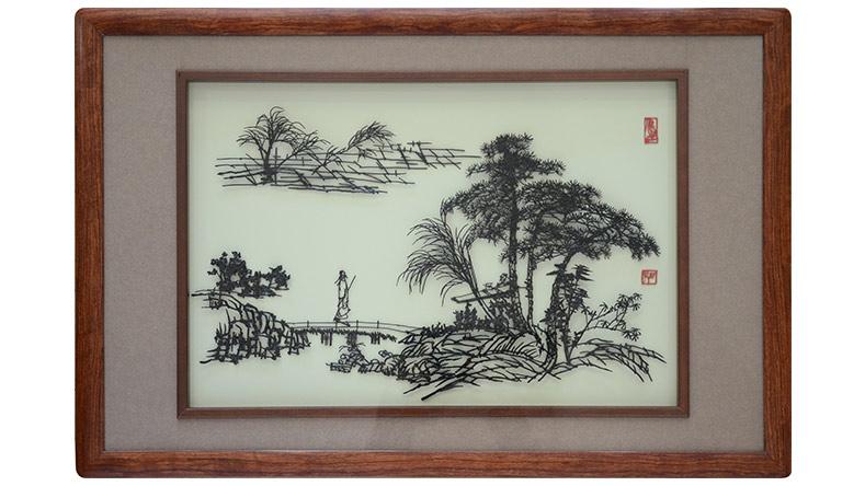 铁画大师吴智祥山水铁画作品1