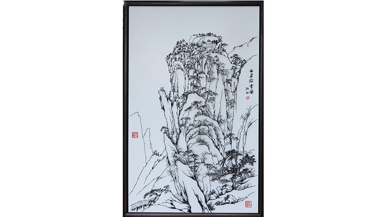 西岩松雪图-张家康铁画大师精品力作