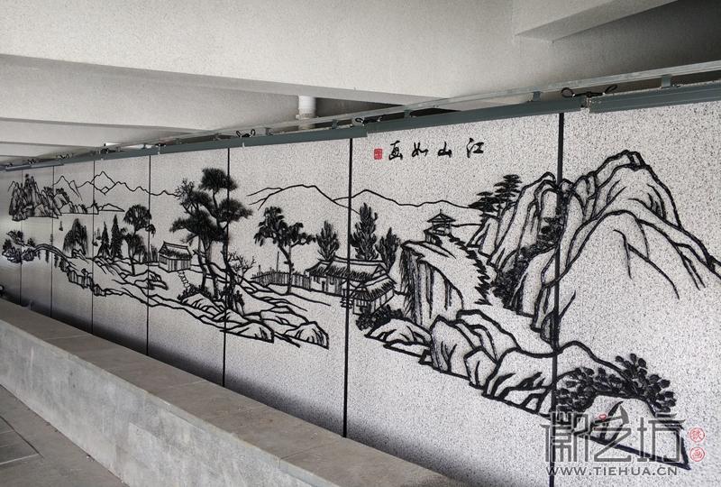 徽艺坊为南京溧水二里桥设计制作景观铁画(明觉铁艺)