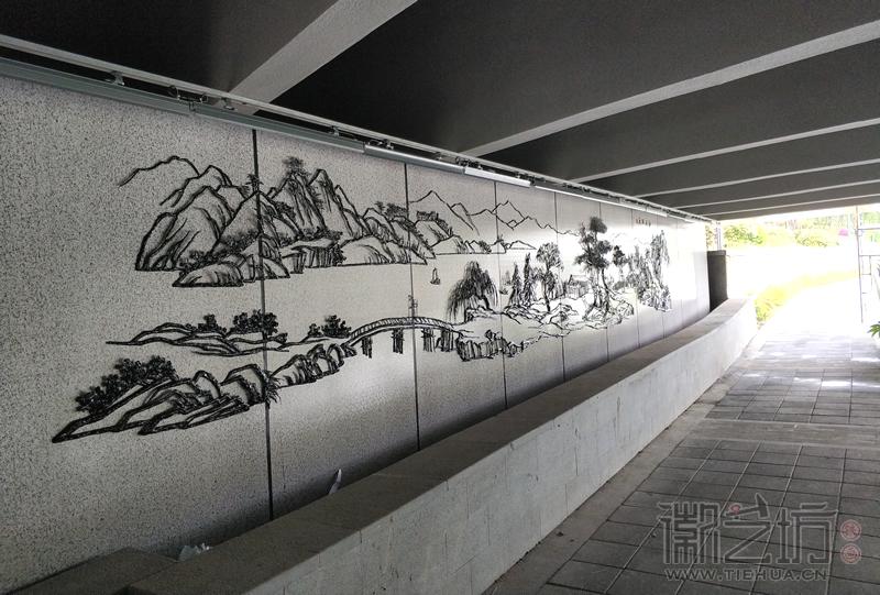 南京溧水二里桥铁画-江山如画2