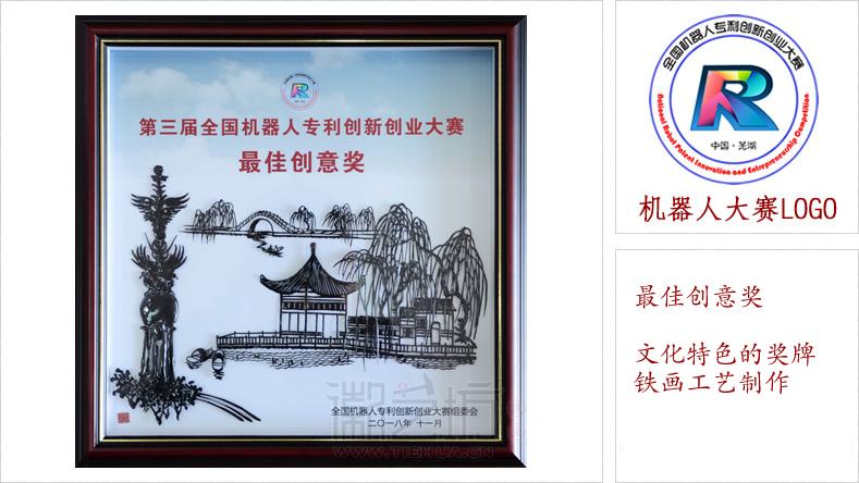 全国机器人大赛芜湖铁画奖牌证书-最佳创意奖