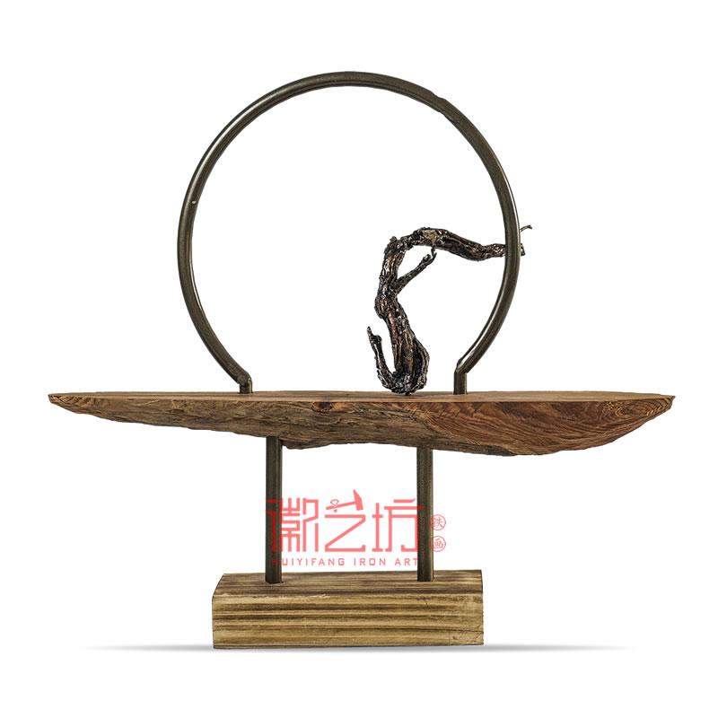 立体铁画禅意金属摆件 铁艺装饰 安徽特色非遗手工艺术品
