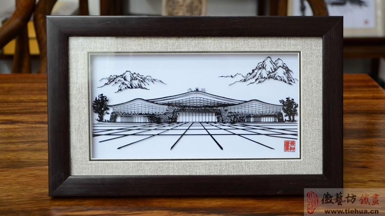 中铁时代建筑设计院有限公司定制的峨眉站高铁形象宣传铁画