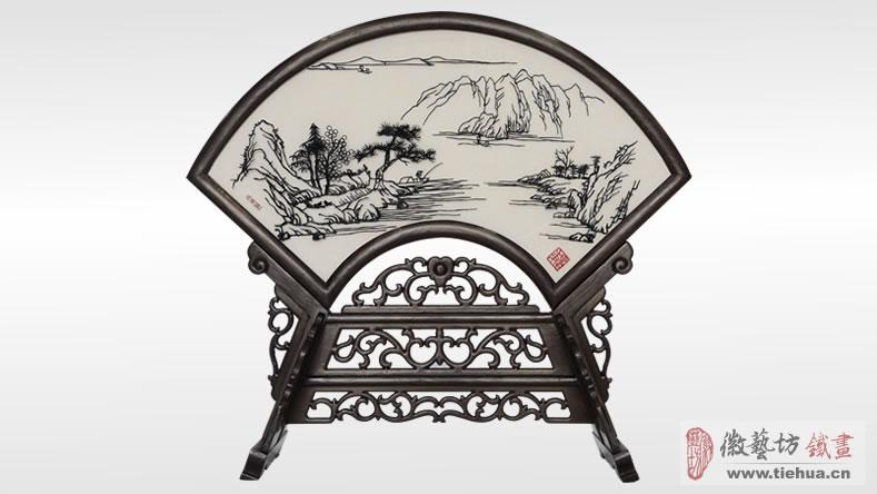 福建文化厅定制的单位特色文化艺术礼品-双面古典台屏铁画